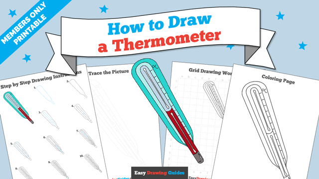 download a printable PDF of Thermometer drawing tutorial