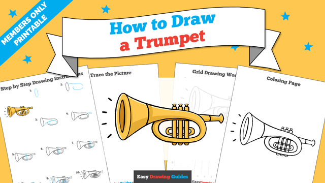 download a printable PDF of Trumpet drawing tutorial
