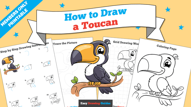 download a printable PDF of Toucan drawing tutorial