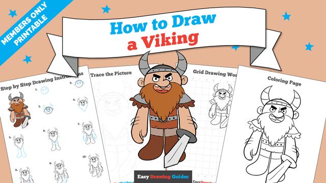 download a printable PDF of Viking drawing tutorial