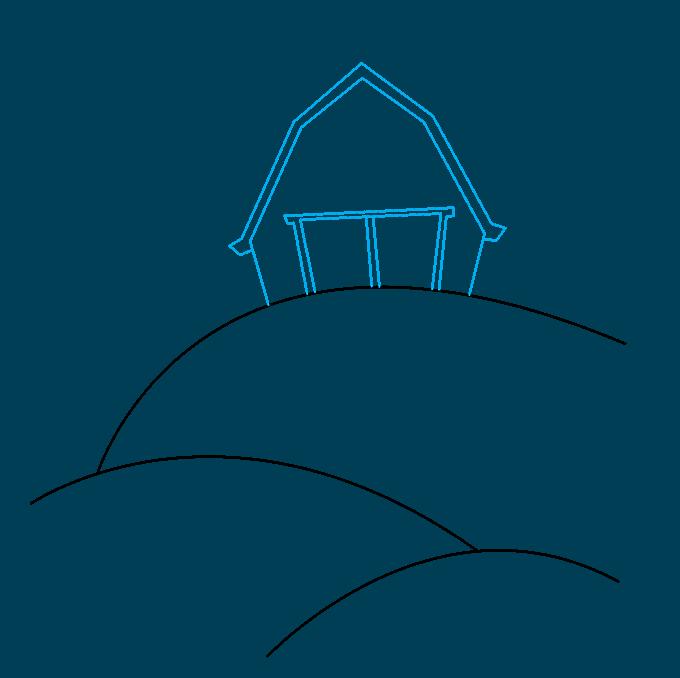 How to Draw a Farm Step 02