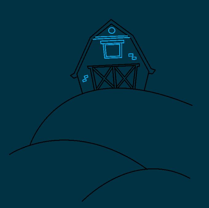 How to Draw a Farm Step 04