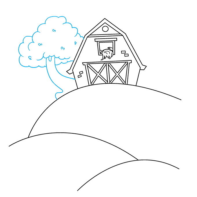 How to Draw a Farm Step 06