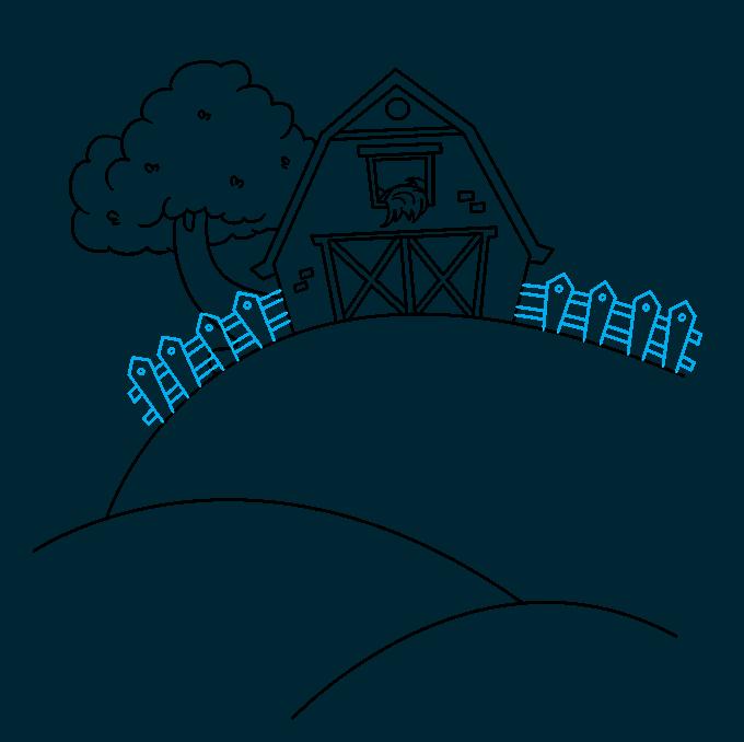 How to Draw a Farm Step 07