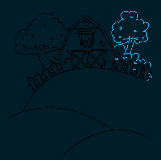 How to Draw a Farm Step 08