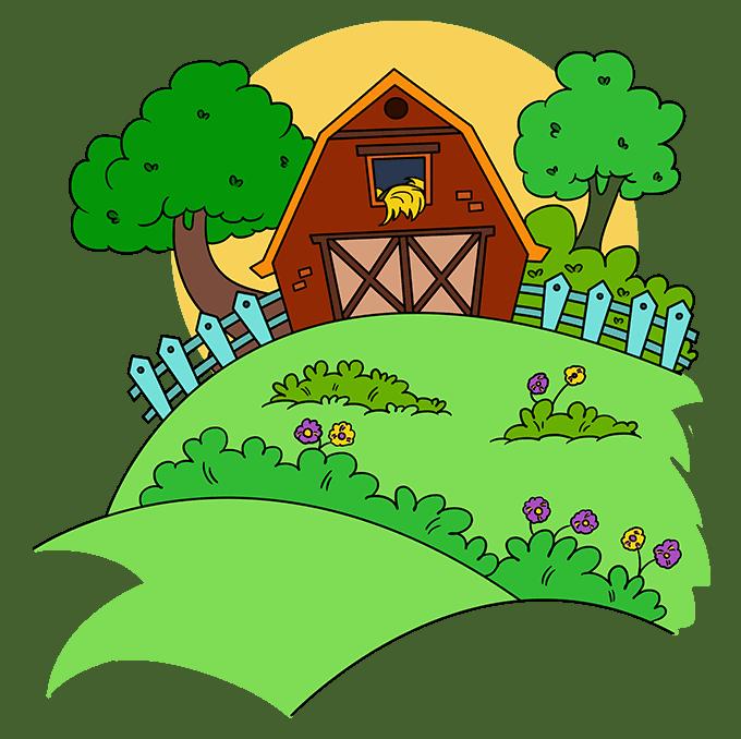 How to Draw a Farm Step 10