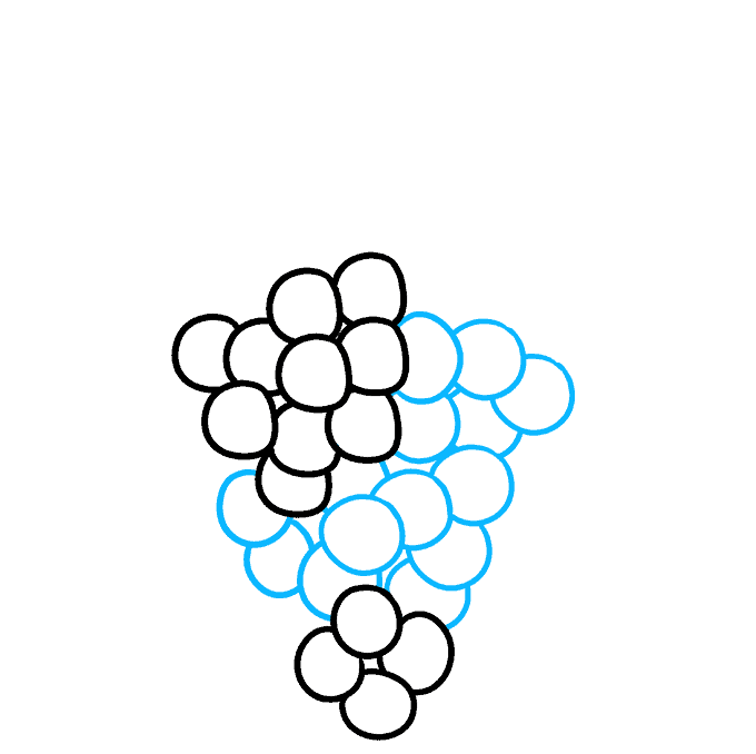 How to Draw Grapes: Step 3