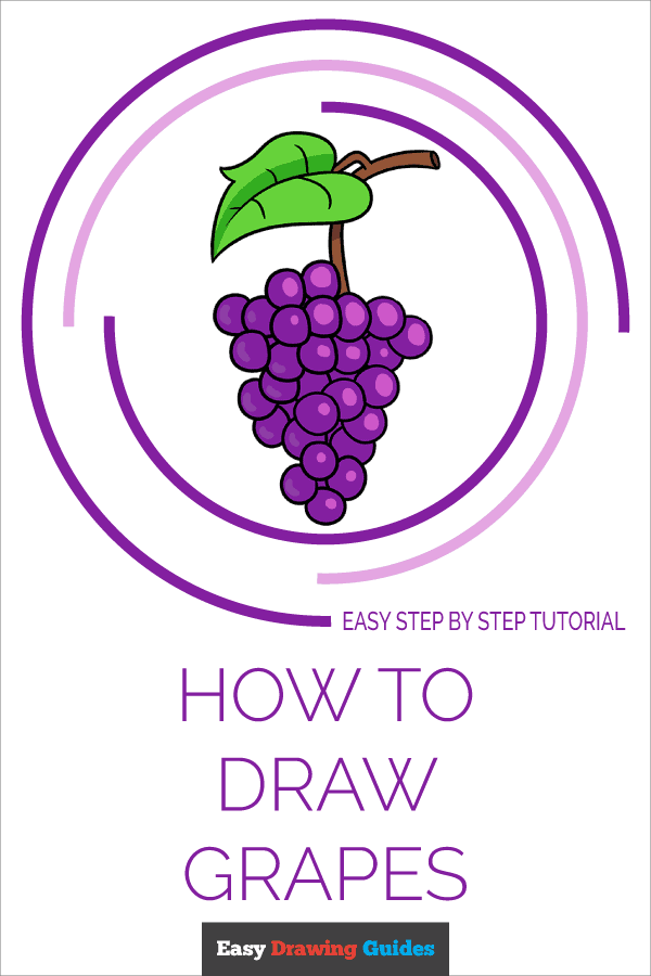 How to Draw Grapes Pinterest Image