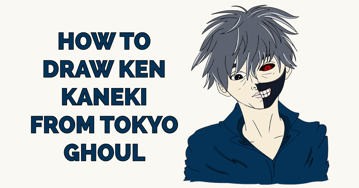 How to Draw Ken Kaneki from Tokyo Ghoul Featured Image