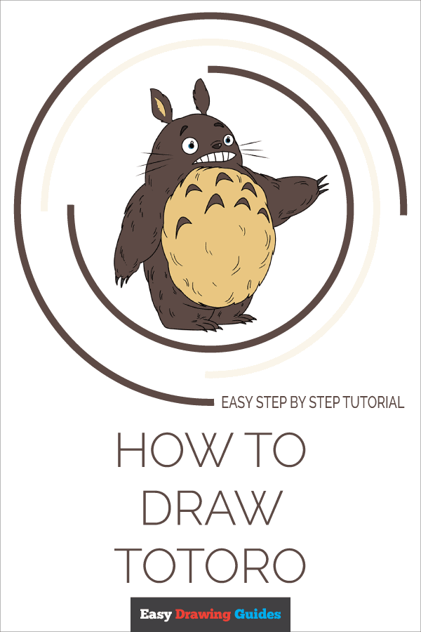 How to Draw Totoro | Share to Pinterest
