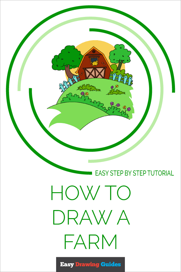 How to Draw a Farm Pinterest Image