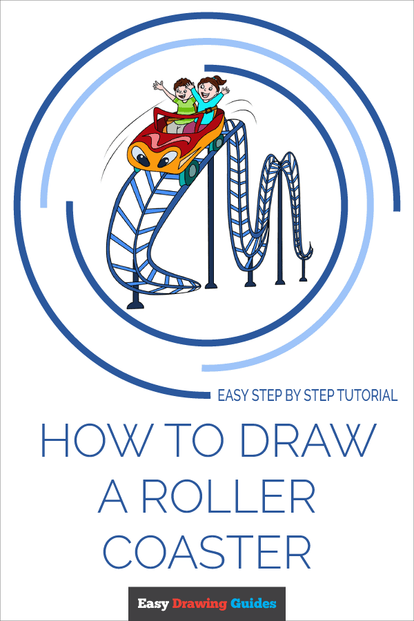 How to Draw Roller Coaster | Share to Pinterest
