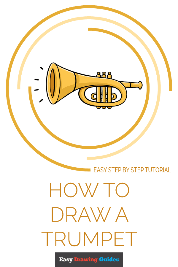How to Draw Trumpet | Share to Pinterest