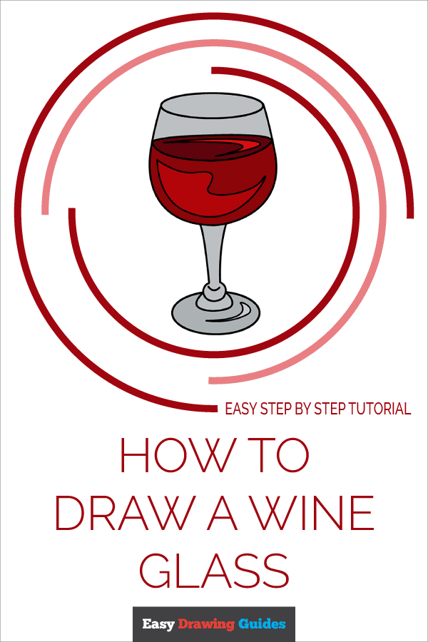 How to Draw Wine Glass | Share to Pinterest
