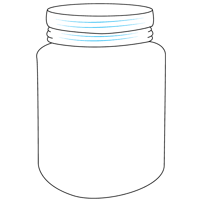 How to Draw a Mason Jar Step 07