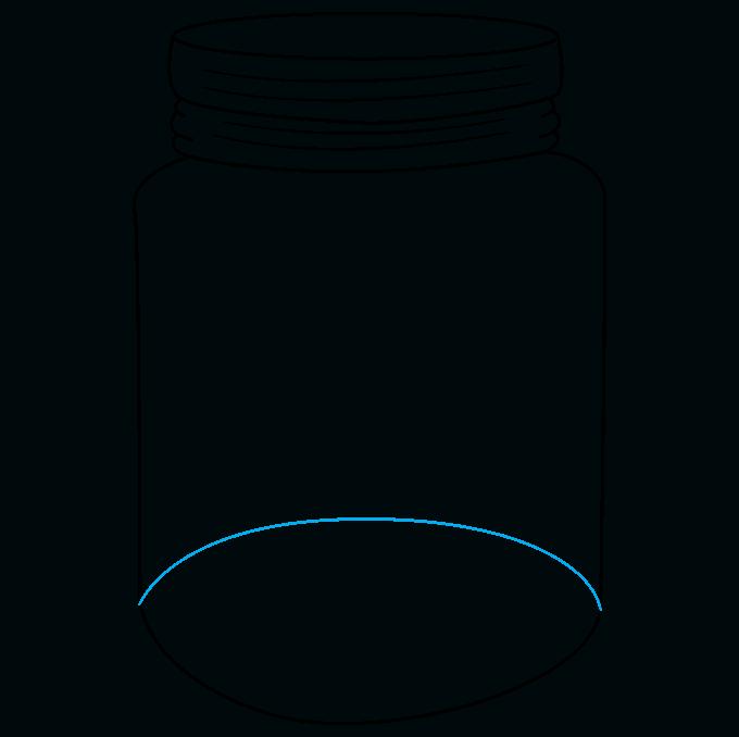 How to Draw a Mason Jar Step 08