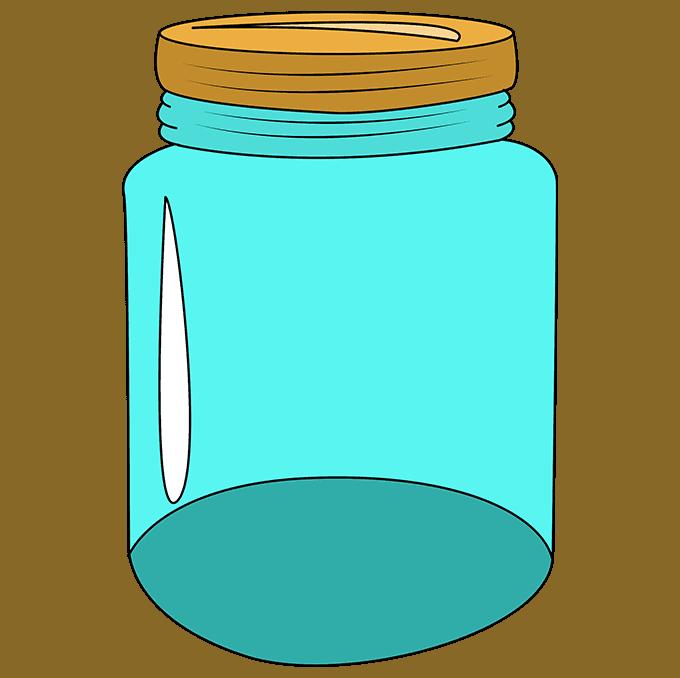How to Draw a Mason Jar Step 10