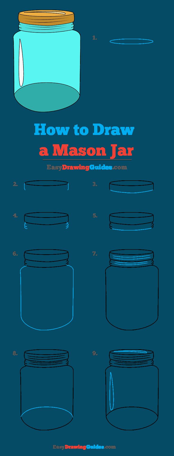 How to Draw Mason Jar