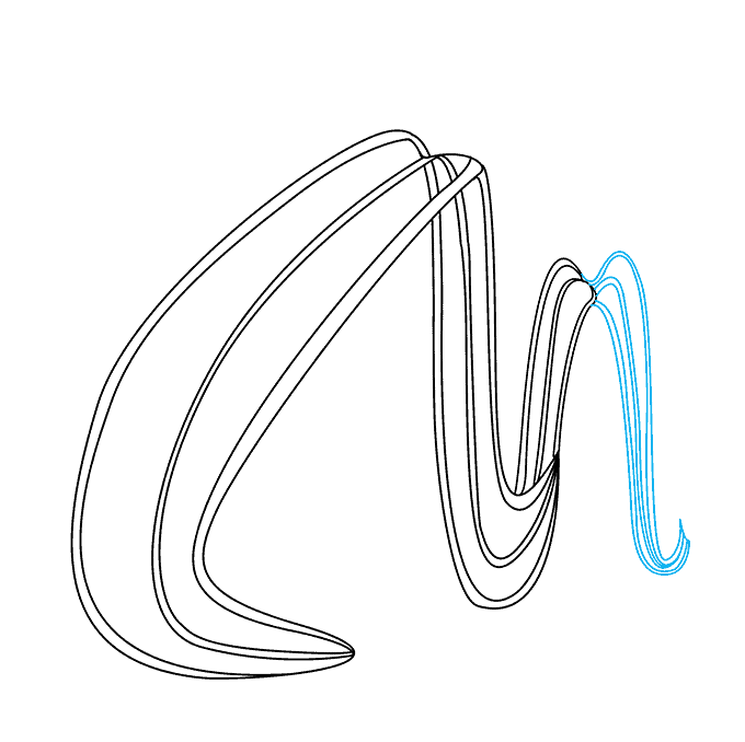 How to Draw Roller Coaster: Step 3
