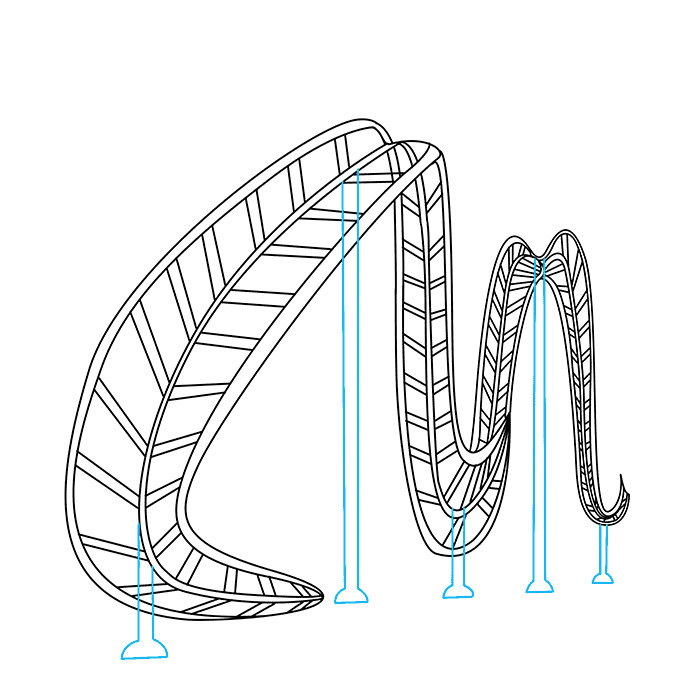 How to Draw Roller Coaster: Step 5