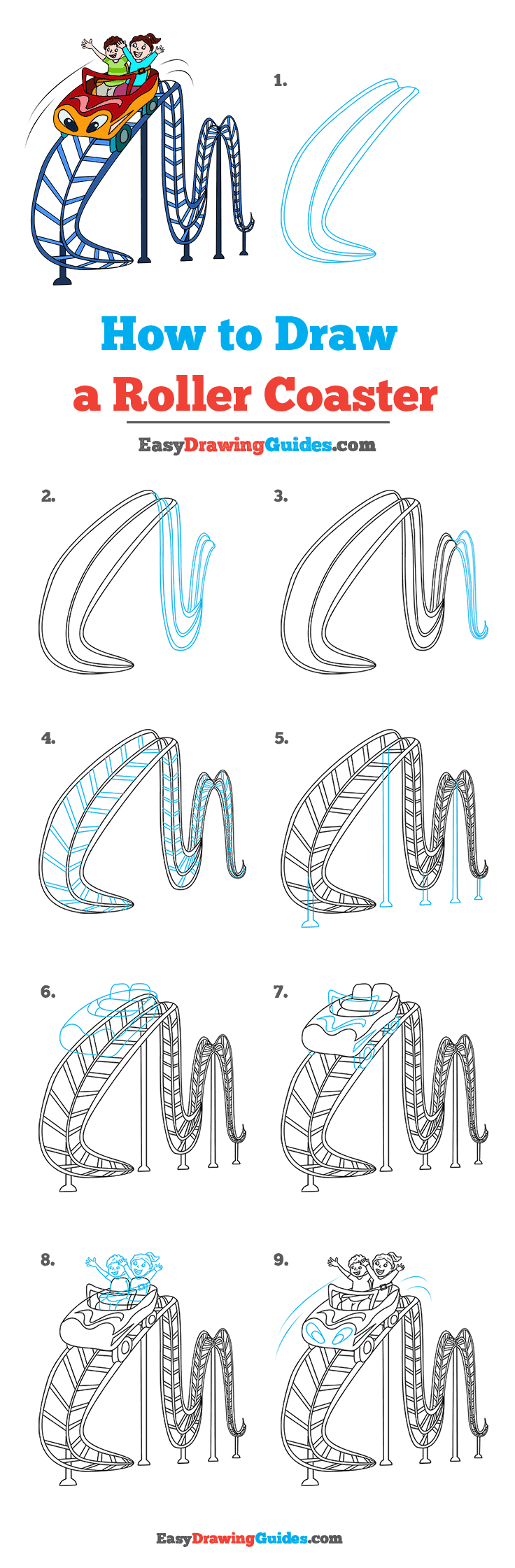 How to Draw Roller Coaster