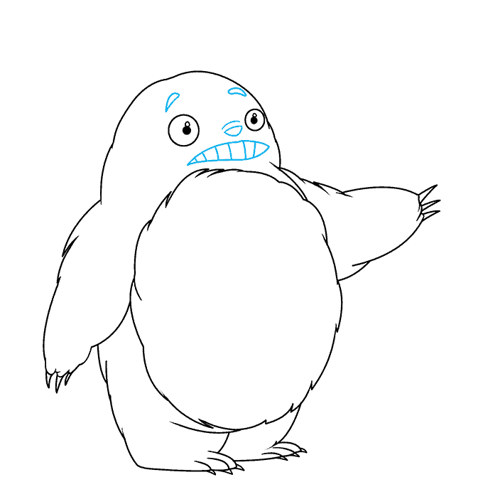 How to Draw Totoro: Step 6