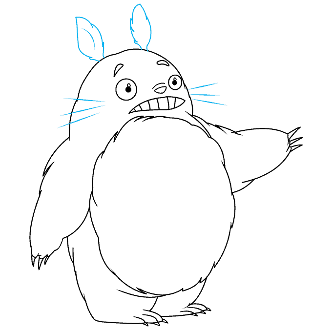 How to Draw Totoro: Step 7