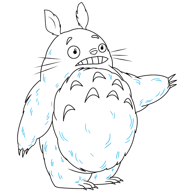 How to Draw Totoro: Step 9