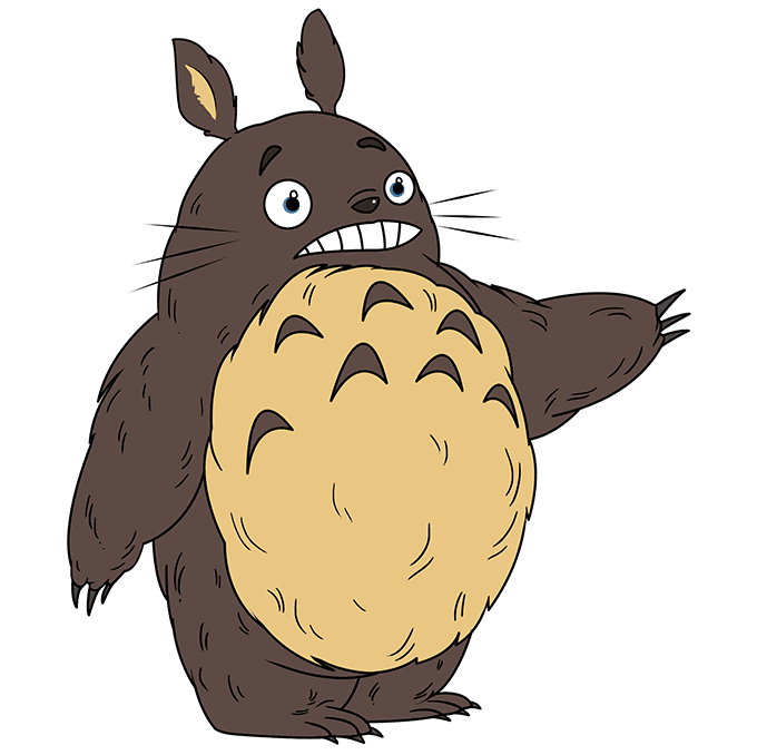 How to Draw Totoro: Step 10