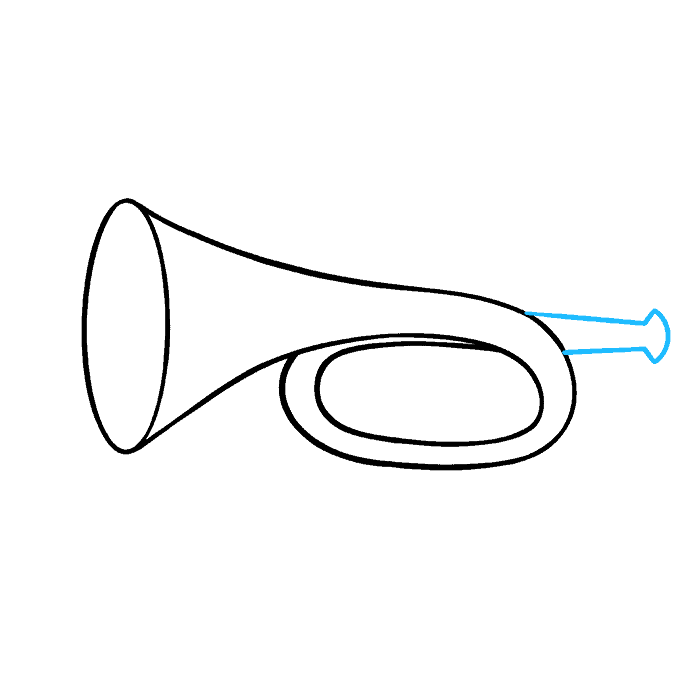 How to Draw Trumpet: Step 4