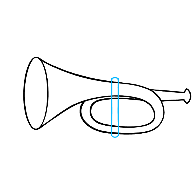 How to Draw Trumpet: Step 5