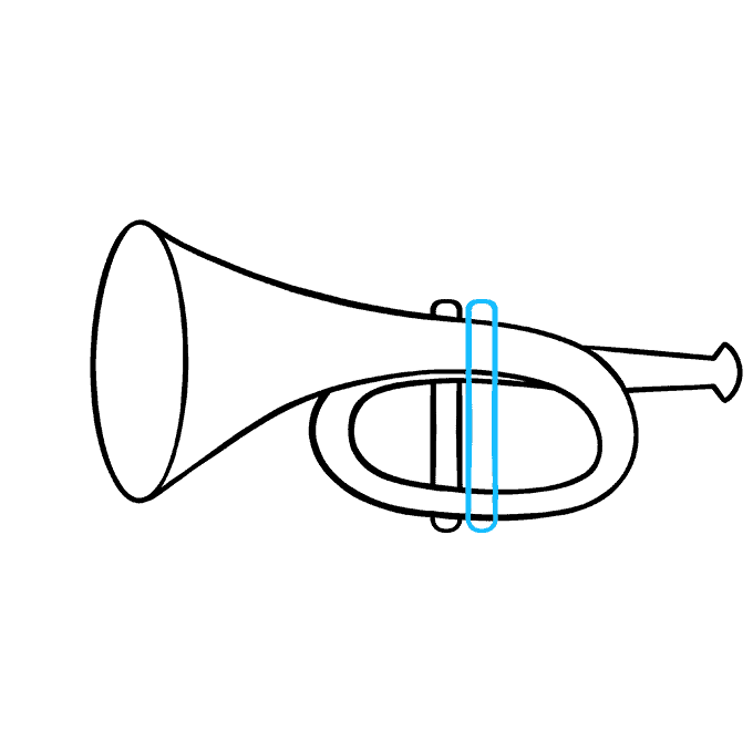 How to Draw Trumpet: Step 6