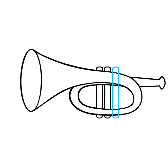 How to Draw Trumpet: Step 7