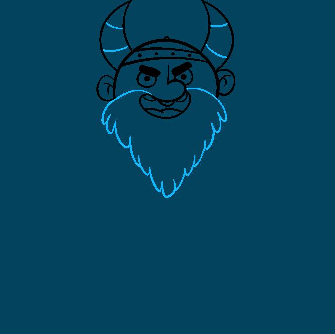 Cómo dibujar vikingo: paso 4
