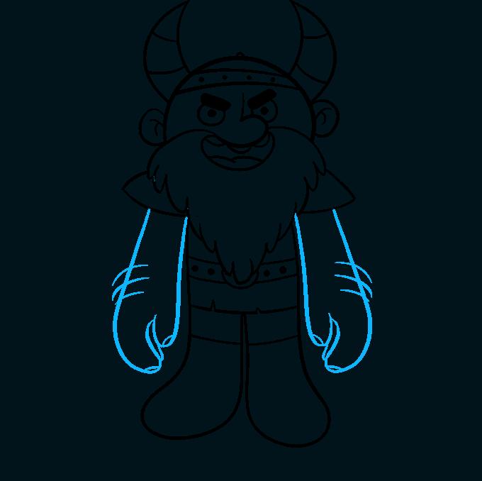 Cómo dibujar vikingo: paso 7