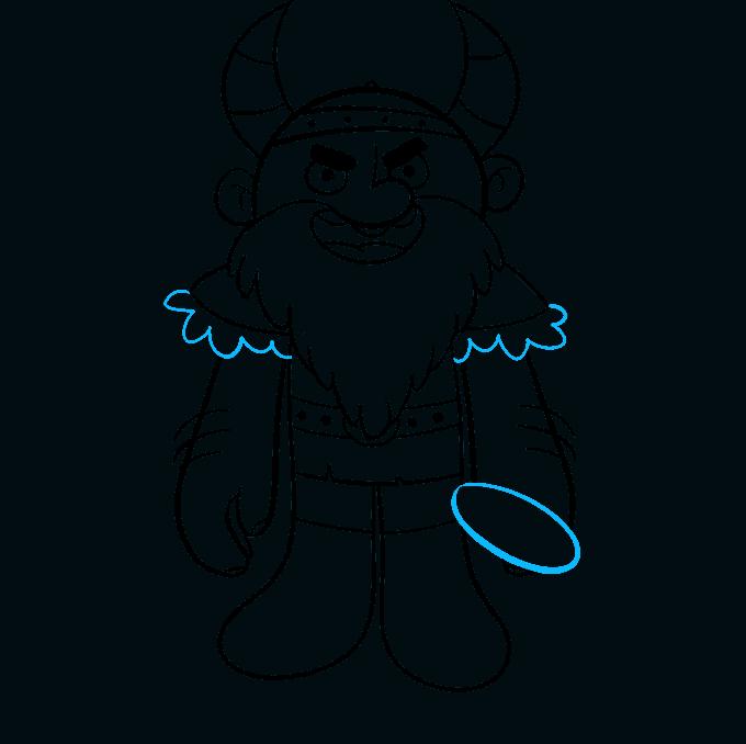 Cómo dibujar vikingo: paso 8