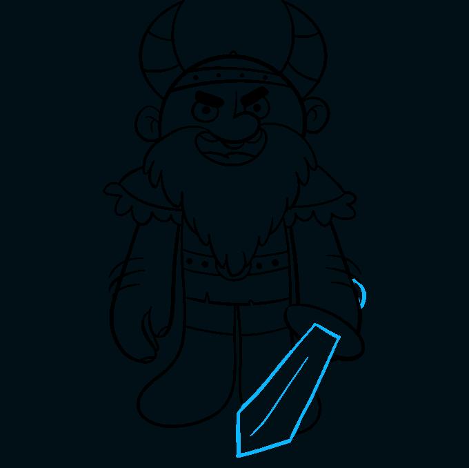 Cómo dibujar vikingo: paso 9