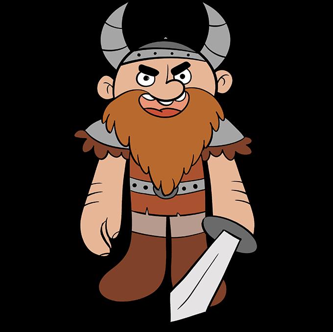 Cómo dibujar vikingo: paso 10