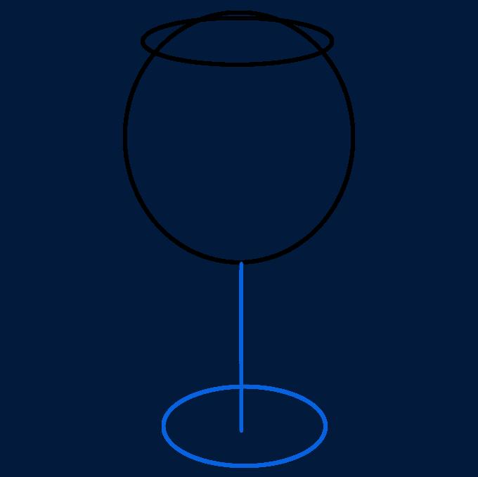 How to Draw Wine Glass: Step 3