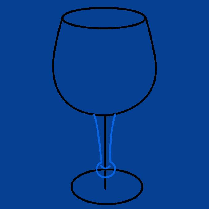 How to Draw Wine Glass: Step 6