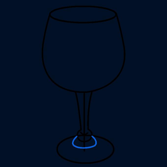 How to Draw Wine Glass: Step 7