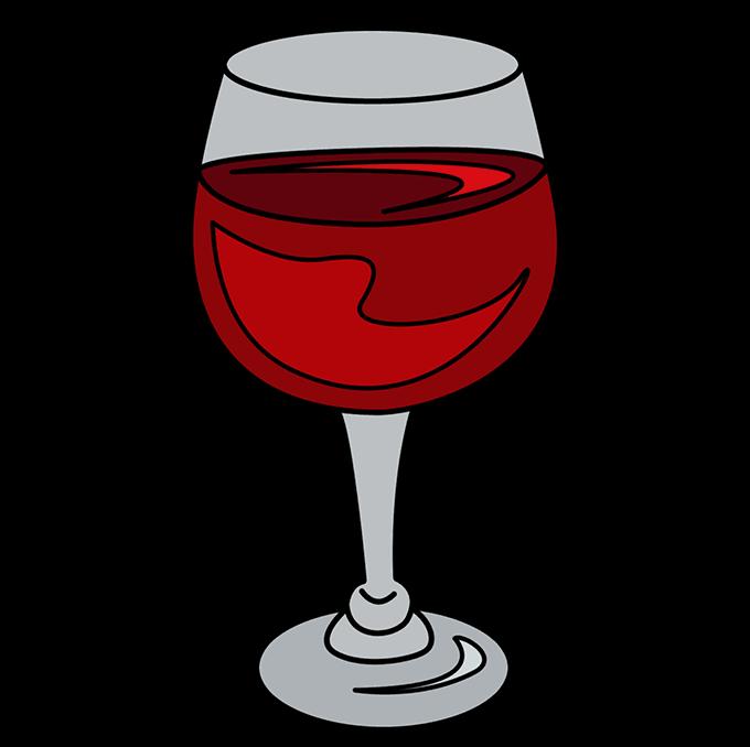 How to Draw Wine Glass: Step 10