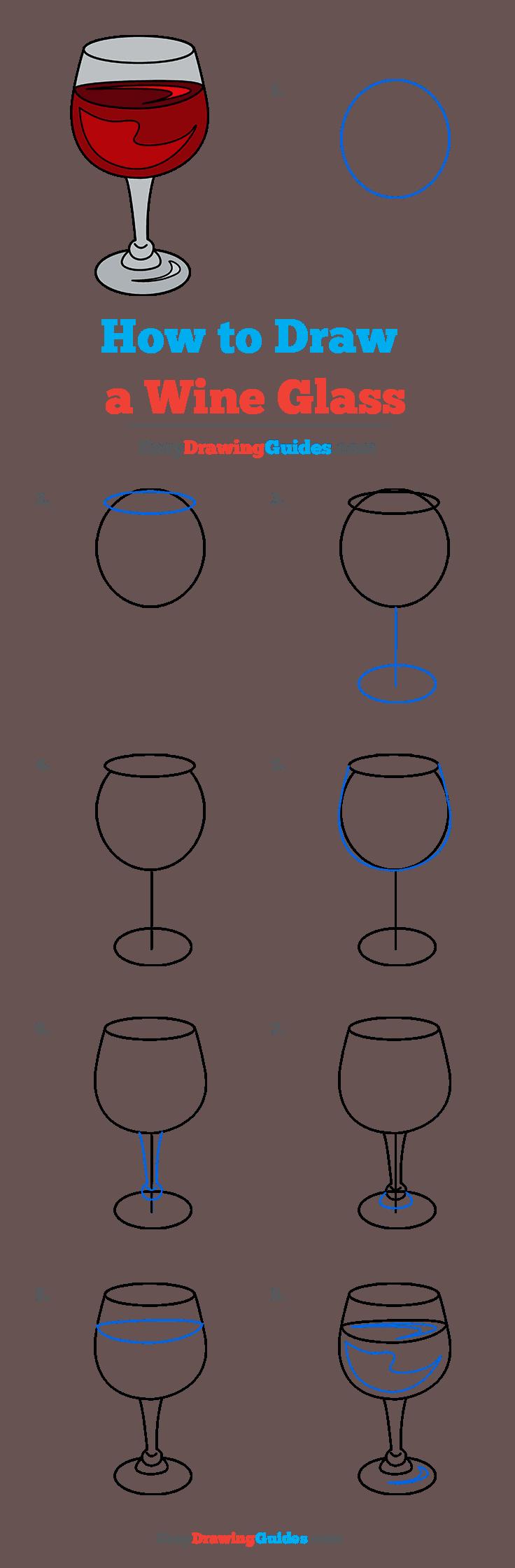 How to Draw Wine Glass