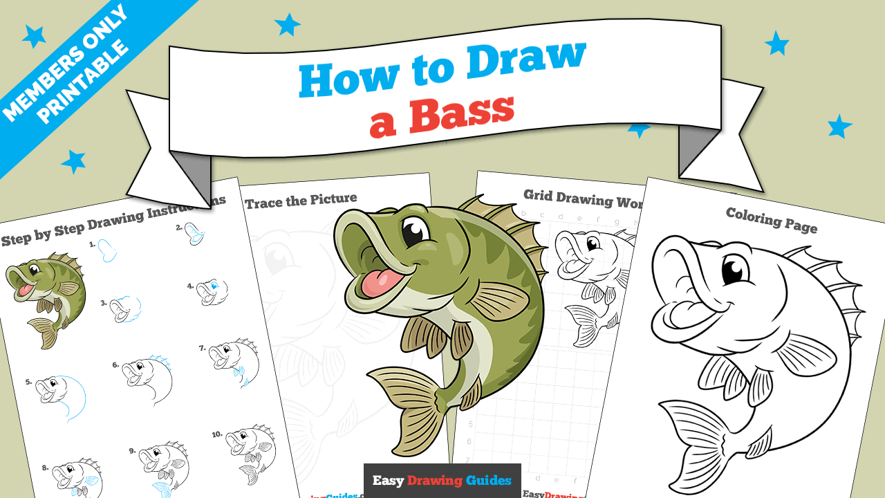 download a printable PDF of Bass drawing tutorial
