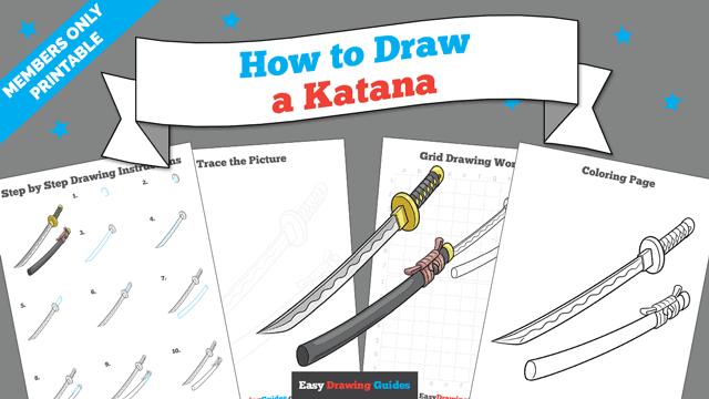 download a printable PDF of Katana drawing tutorial