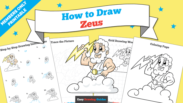 download a printable PDF of Zeus drawing tutorial