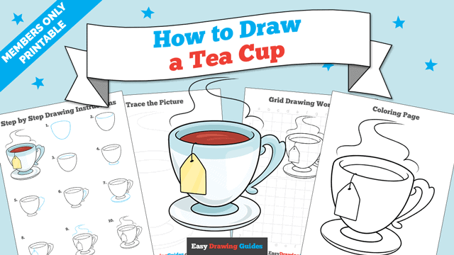 download a printable PDF of Tea Cup drawing tutorial