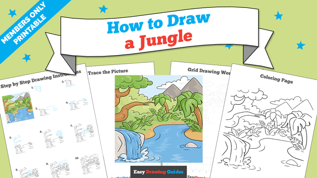 download a printable PDF of Jungle drawing tutorial