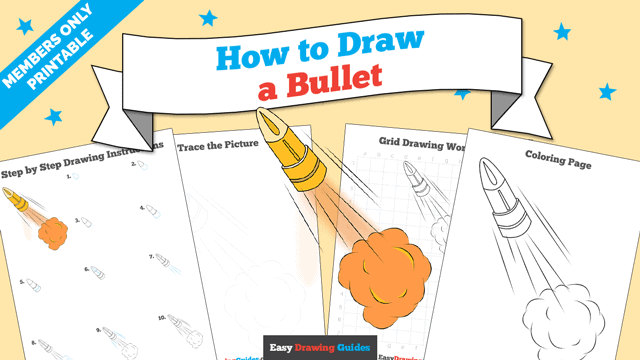 Printables thumbnail: How to draw a Bullet