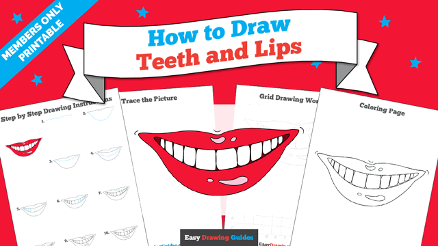 download a printable PDF of Teeth and Lips drawing tutorial